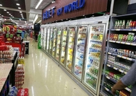 Cina Supermarket Cool Drink Display Cold Room, Commercial Walk Di Ruang Freezer perusahaan